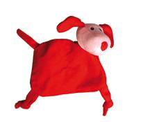 Rode pluche hondenknuffel; Flappy