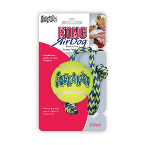 Kong air squeeker bal met touw