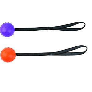 Trixie rubberen bal met stekels en koord